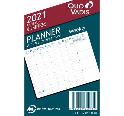 Quo Vadis 2021 Calendar Refill Business #04