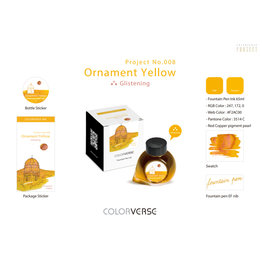 Colorverse Colorverse Project No. 008 Ornament Yellow Glistening 65ml Bottled Ink