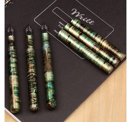 Schon DSGN Schon DSGN Pocket Six Fountain Pen Malachite