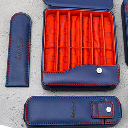 Esterbrook Esterbrook Pen Nook Navy with Red Stitching Double