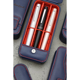 Esterbrook Esterbrook Pen Nook Navy with Red Stitching Triple