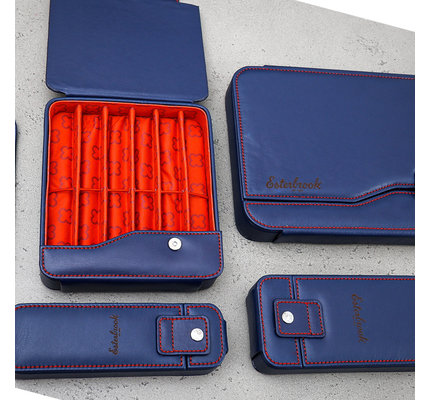 Esterbrook Esterbrook Pen Nook Navy with Red Stitching Six