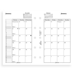 Filofax Filofax 2021 Month on Two Pages Mini Planner Refill