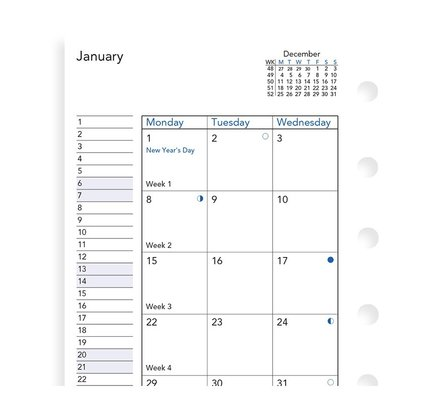 Filofax Filofax 2021 Month on Two Pages Pocket Planner Refill