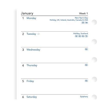 Filofax Filofax 2021 Week on a Page Pocket Planner Refill