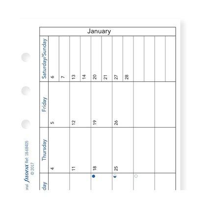 Filofax Filofax 2021 Month on a Page Personal Planner Refill