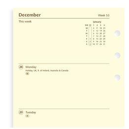 Filofax Filofax 2021 Week to View Cotton Cream Personal Planner Refill
