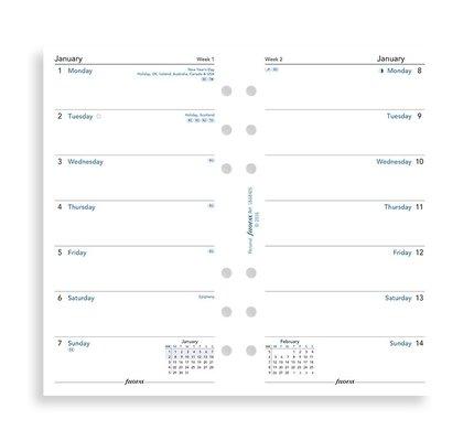 Filofax Filofax 2021 Week Per Page Personal Planner Refill