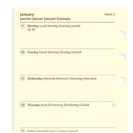 Filofax Filofax 2021 Week on a Page Cotton Cream Personal Planner Refill