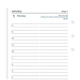 Filofax Filofax 2021 Day Per Page Personal Planner  Refill
