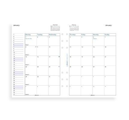 Filofax Filofax 2021 Month to View A5 Planner Refill