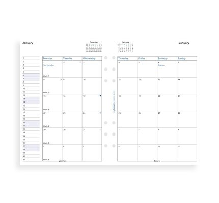Filofax Filofax 2021 Month to View A5 Refill