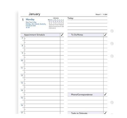 Filofax Filofax 2021 Daily Business A5 Planner Refill