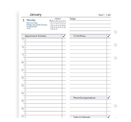 Filofax Filofax 2021 Daily Business A5 Refill