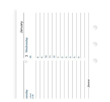 Filofax Filofax 2021 Week to View Horizontal Pocket Planner Refill