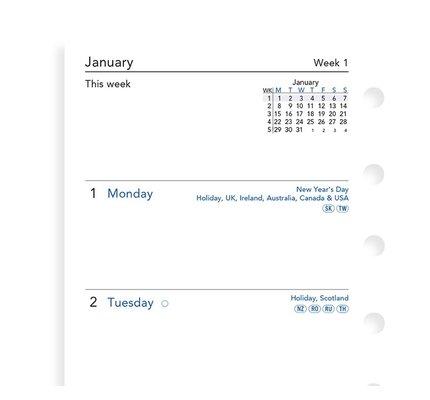 Filofax Filofax 2021 Week to View Pocket Planner Refill