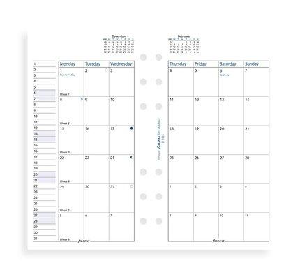 Filofax Filofax 2021 Month to View Personal Planner Refill
