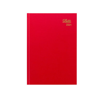 Letts 2021 Principal A5 Day Per Page Diary Red
