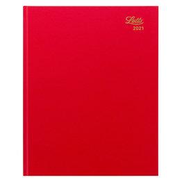 Letts 2021 Principal Daily Quarto Calendar Red