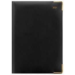 Letts A5 Day Per Page Diary with Appointments 2021 Black