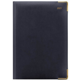 Letts A5 Day Per Page Diary with Appointments 2021 Blue
