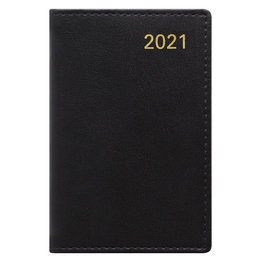 Letts Belgravia Mini Pocket Week to View Diary with Planners 2021 Black