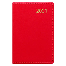 Letts Belgravia Mini Pocket Week to View Diary with Planners 2021 Red