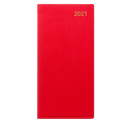 Letts Belgravia Slim Week to View Diary with Planners 2021 Red