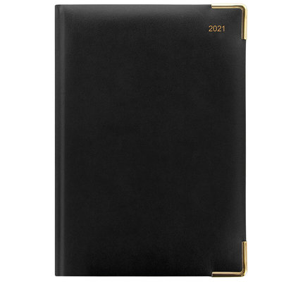 Letts Classic A5 Week to View Diary with Appointments 2021 Black