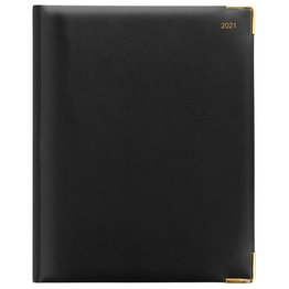 Letts Classic Quarto Week to View Diary with Appointments 2021 Black