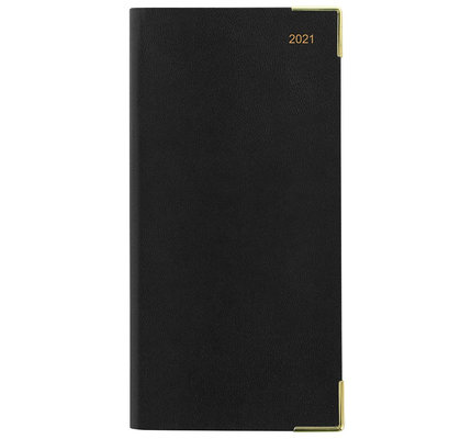 Letts Classic Slim Landscape Week to View Diary with Appointments 2021 Black