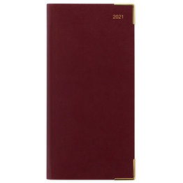 Letts Classic Slim Landscape Week to View Diary with Appointments 2021 Burgundy