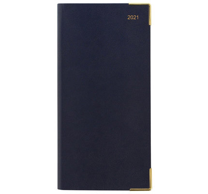 Letts Classic Slim Week to View Diary 2021 Blue