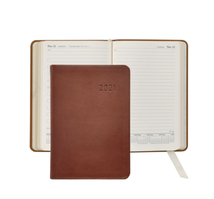 Graphic Image Graphic Image 2021 Maple Traditional Leather Daily Appointment Journal