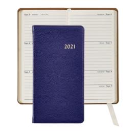 Graphic Image Graphic Image 2021 Indigo Goatskin 6'' Personal Pocket Journal