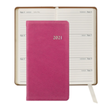 Graphic Image Graphic Image 2021 Pink Goatskin 6'' Personal Pocket Journal