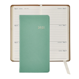 Graphic Image Graphic Image 2021 Robin's Egg Blue Goatskin 6'' Personal Pocket Journal