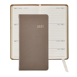 Graphic Image Graphic Image 2021 Taupe Goatskin 6'' Personal Pocket Journal