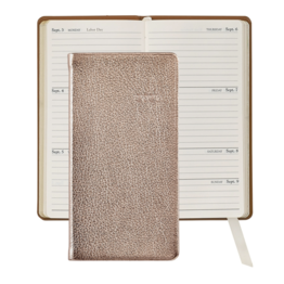 Graphic Image Graphic Image 2021 Rose Gold Metallic Goatskin 6'' Personal Pocket Journal