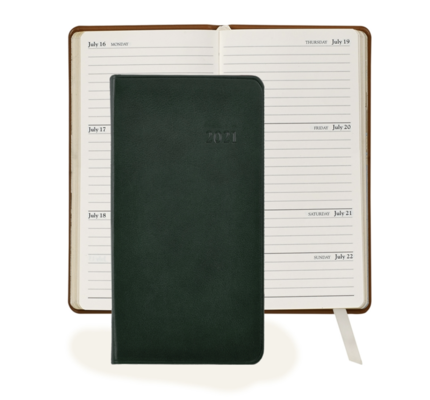 Graphic Image Graphic Image 2021 Green Traditional Leather 6'' Personal Pocket Journal