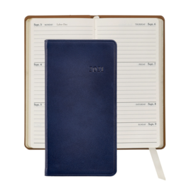 Graphic Image Graphic Image 2021 Blue Traditional Leather 6'' Personal Pocket Journal