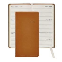 Graphic Image Graphic Image 2021 British Tan Traditional Leather 6'' Personal Pocket Journal
