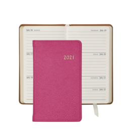 Graphic Image Graphic Image 2021 Pink Goatskin 5'' Personal Pocket Journal