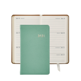 Graphic Image Graphic Image 2021 Robin's Egg Blue Goatskin 5'' Personal Pocket Journal