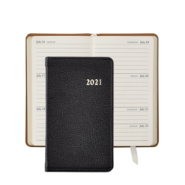 Graphic Image Graphic Image 2021 Black Goatskin 5'' Personal Pocket Journal