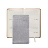 Graphic Image Graphic Image 2021 Silver Metallic Goatskin 5'' Personal Pocket Journal