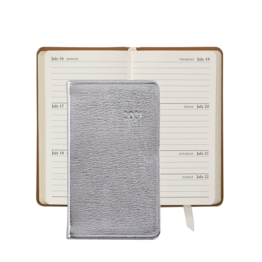 Graphic Image Graphic Image 2021 Silver Metallic Goatskin 5'' Personal Pocket Journal