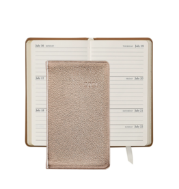Graphic Image Graphic Image 2021 Rose Gold Metallic Goatskin 5'' Personal Pocket Journal