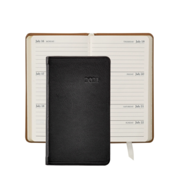 Graphic Image Graphic Image 2021 Black Traditional Leather 5'' Personal Pocket Journal