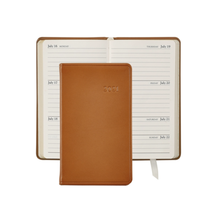 Graphic Image Graphic Image 2021 British Tan Traditional Leather 5'' Personal Pocket Journal
